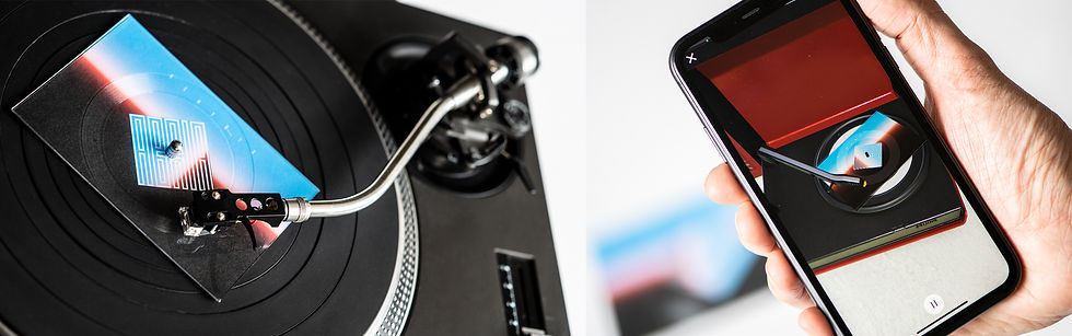 Home Screen - App Record player Montage.