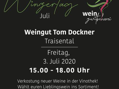 Winzertag mit Tom Dockner am 3. Juli 2020