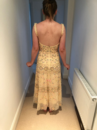 Back of bridesmaid dress after alterations