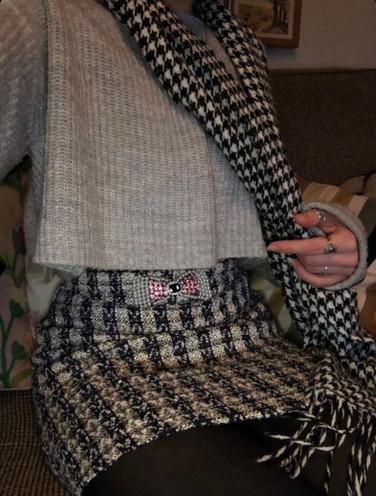 Mini skirt needed taking in