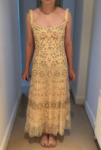 Front of bridesmaid dress after alterations