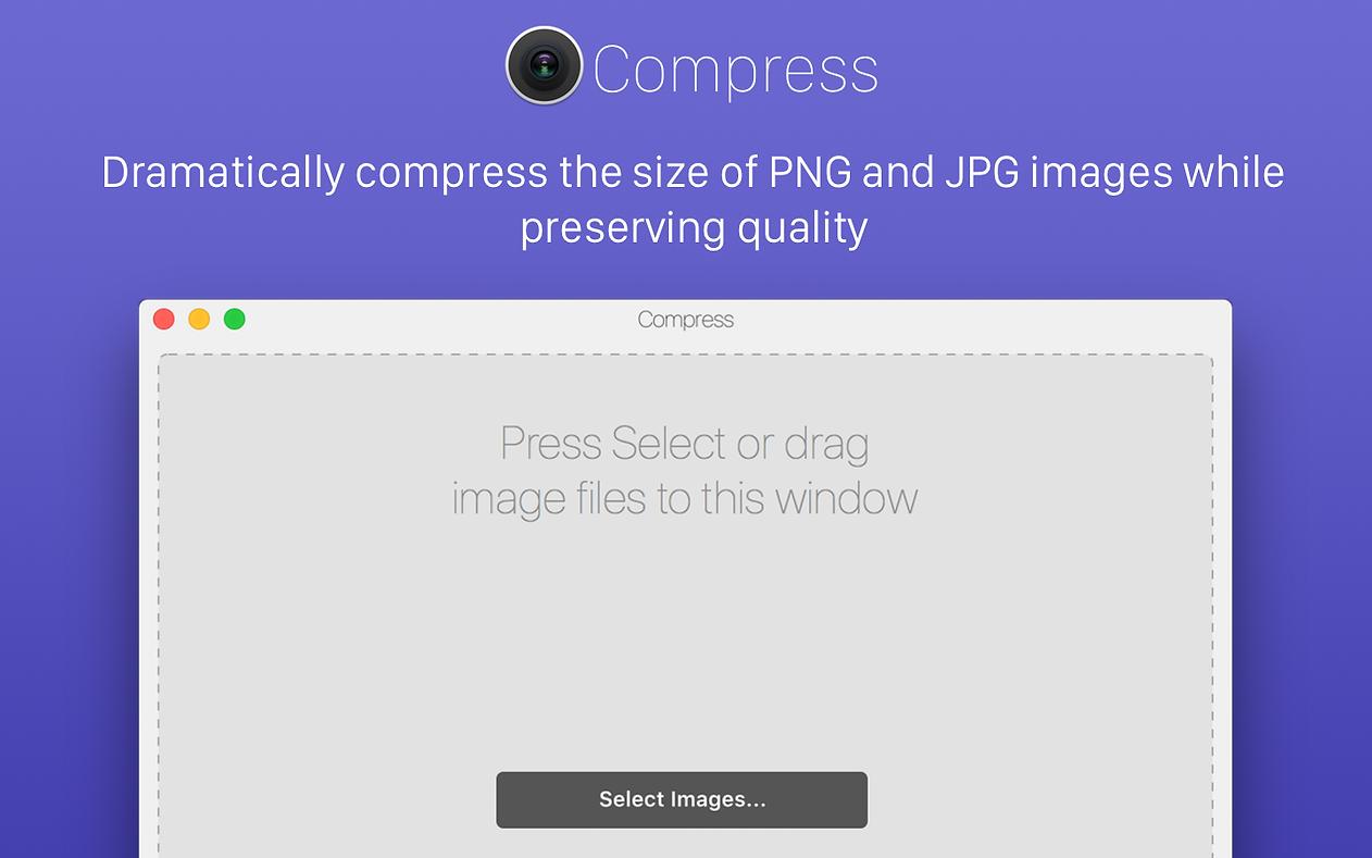 Compress for Mac 1.0.3 破解版 - 图片压缩工具