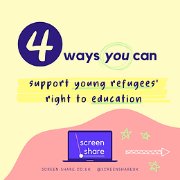 support young refugee's access to educat