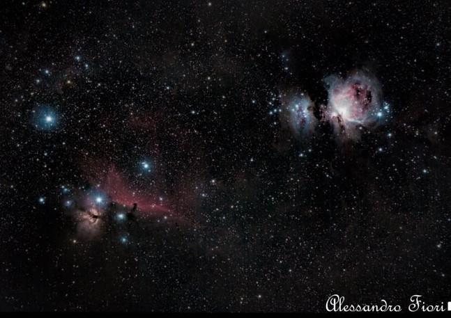 """M42 e nebulosa """"Testa di cavallo"""""""
