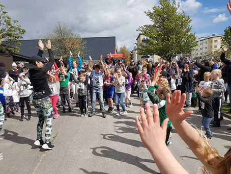 Rörelsefest under invigningen den 5 maj!