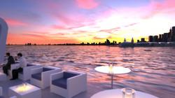 Breakwater Chicago - sunset