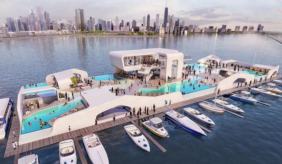 Breakwater Chicago, Breakwater, Floating Island