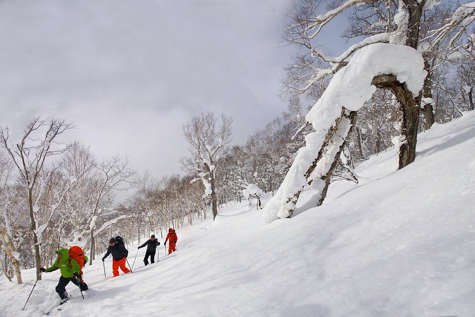 Hiking up the vulcano Mt. Yotei in Hokkaido, Japan