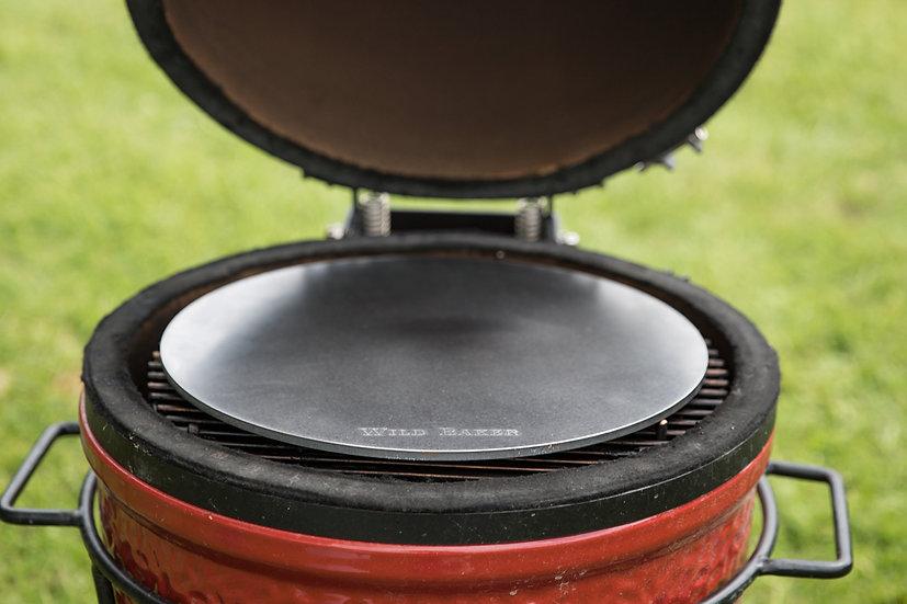 Round steel fitting the Kamado Joe Junior ceramic BBQ
