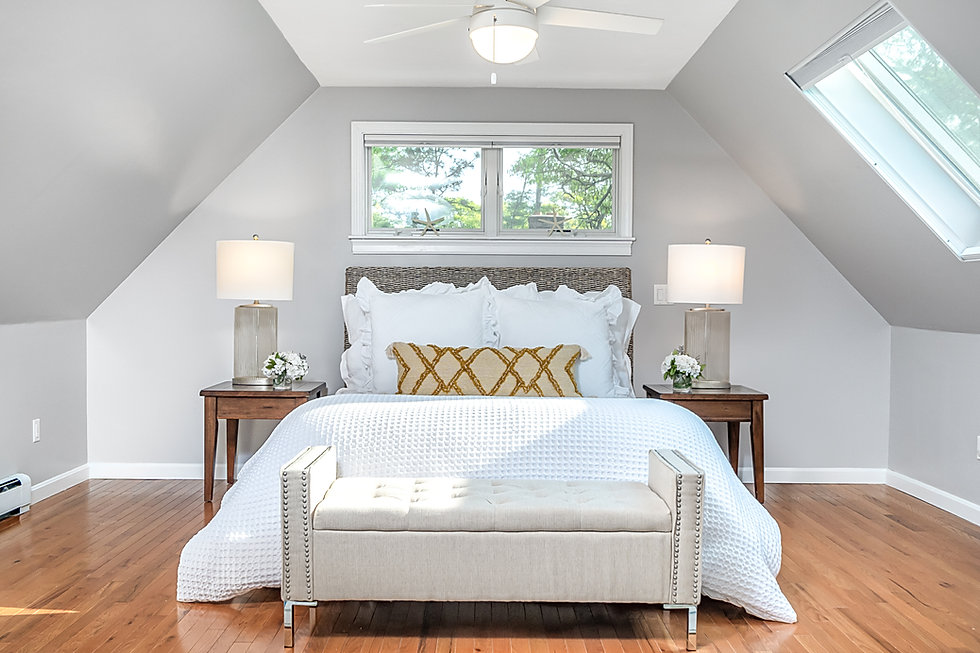 Vaulted Ceiling In The Master Bedroom.JP
