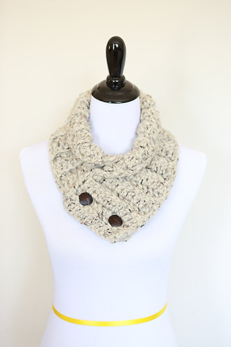 Neck Warmer - Oatmeal Ribbed