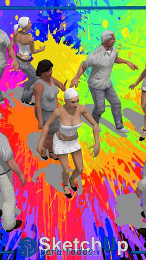 Componentes   4 parejas de personas bailando