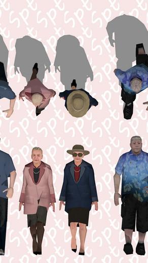 Componentes de personas caminando