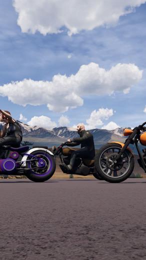 Componentes de Motociclistas Low poly