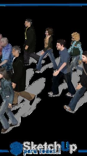 Componentes   10 personas caminando