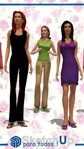 Componentes   5 modelos de mujeres de pie
