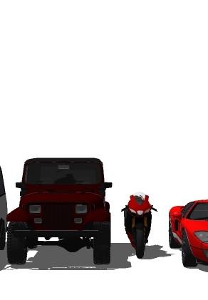 Componentes de vehículos para SketchUp - Su Podium