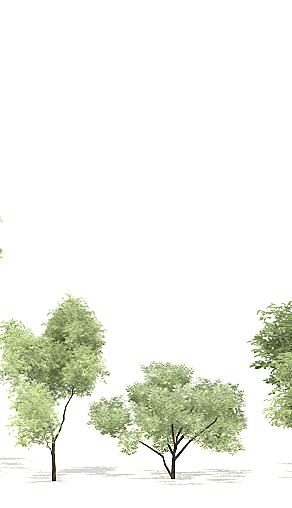 Componentes de arboles genéricos low poly