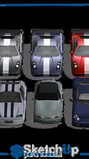 Componentes   6 carros deportivos