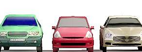 Componentes de vehículos low poly