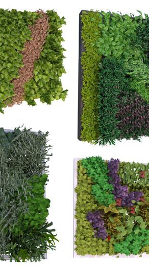 Componentes con 4 muros verdes - High poly