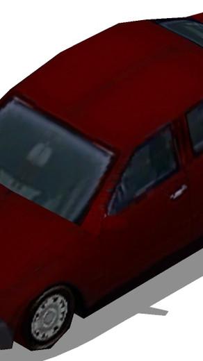 Componentes de vehículos de transporte low poly