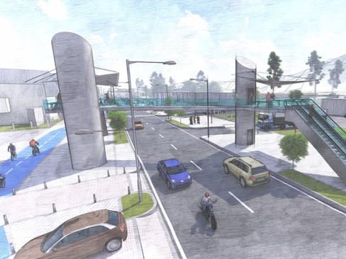 Alameda Boceto Puente