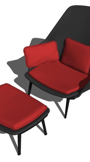 Componentes de mobiliario para interiores low poly