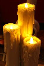 PVC PIllar Candles