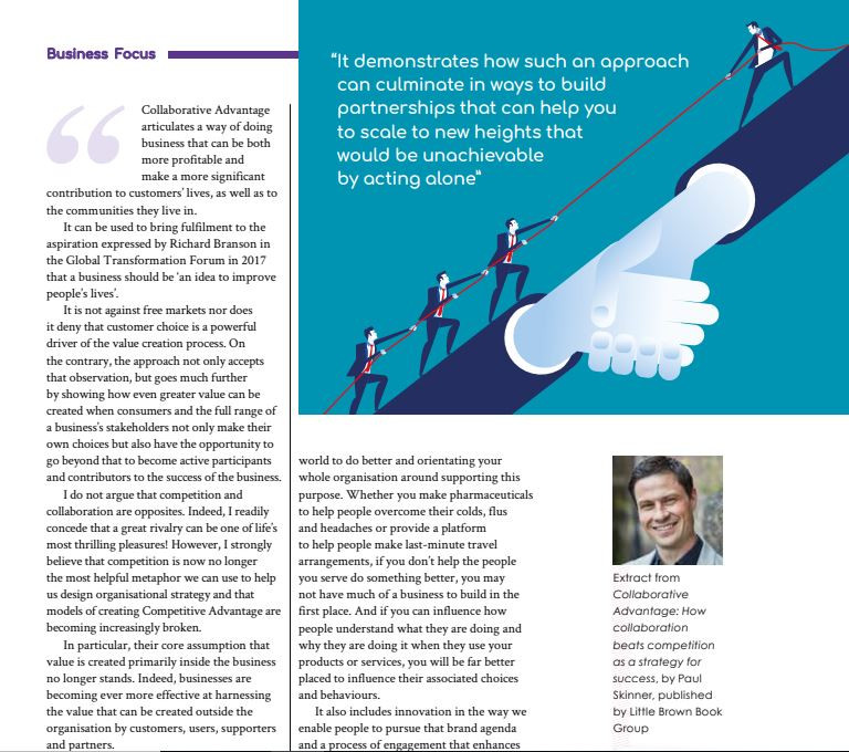 Collaborative Advantage in Business Focus section of Flight Time