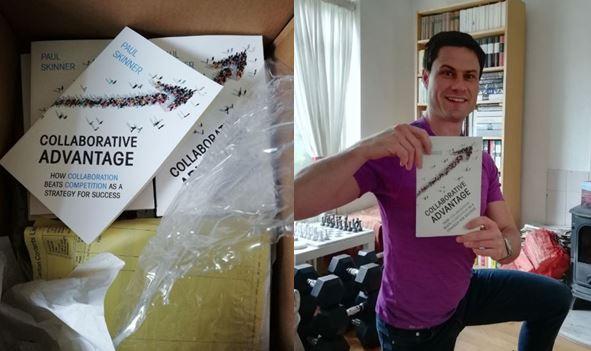First author copies of Collaborative Advantage arrive