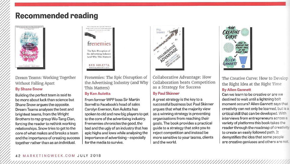 Collaborative Advantage is recommended reading in July issue of Marketing Week