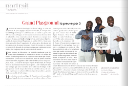 Parution presse : Grand playground (Toutma magazine)