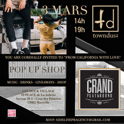 Towndust x Grand playground pop up (flyer)