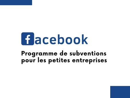Facebook : subventionne les petites entreprises
