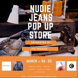 Nudie jeans x Citadium pop up (flyer event)