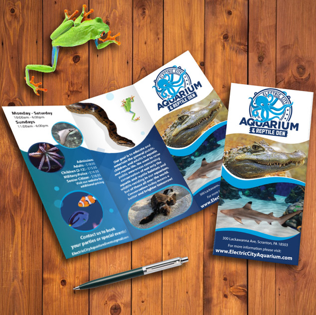 Electric City Aquarium brochure