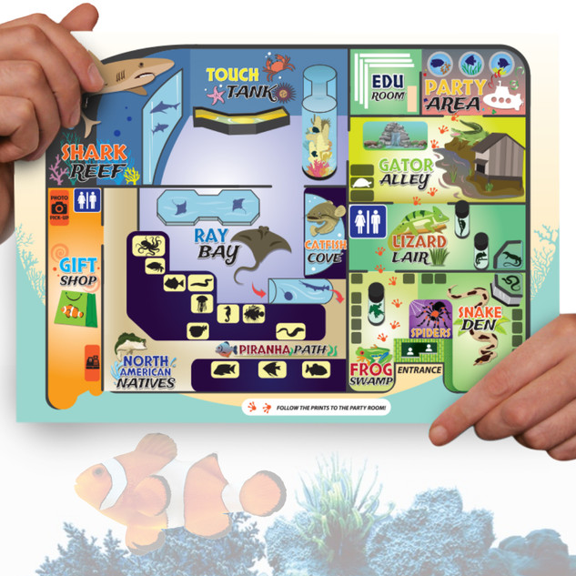 Electric City Aquarium map
