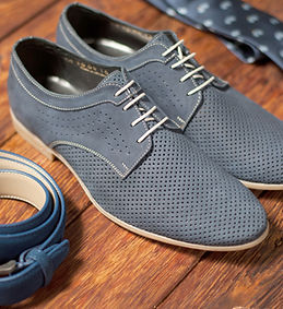 blue dress shoes