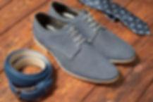 blue dress shoes