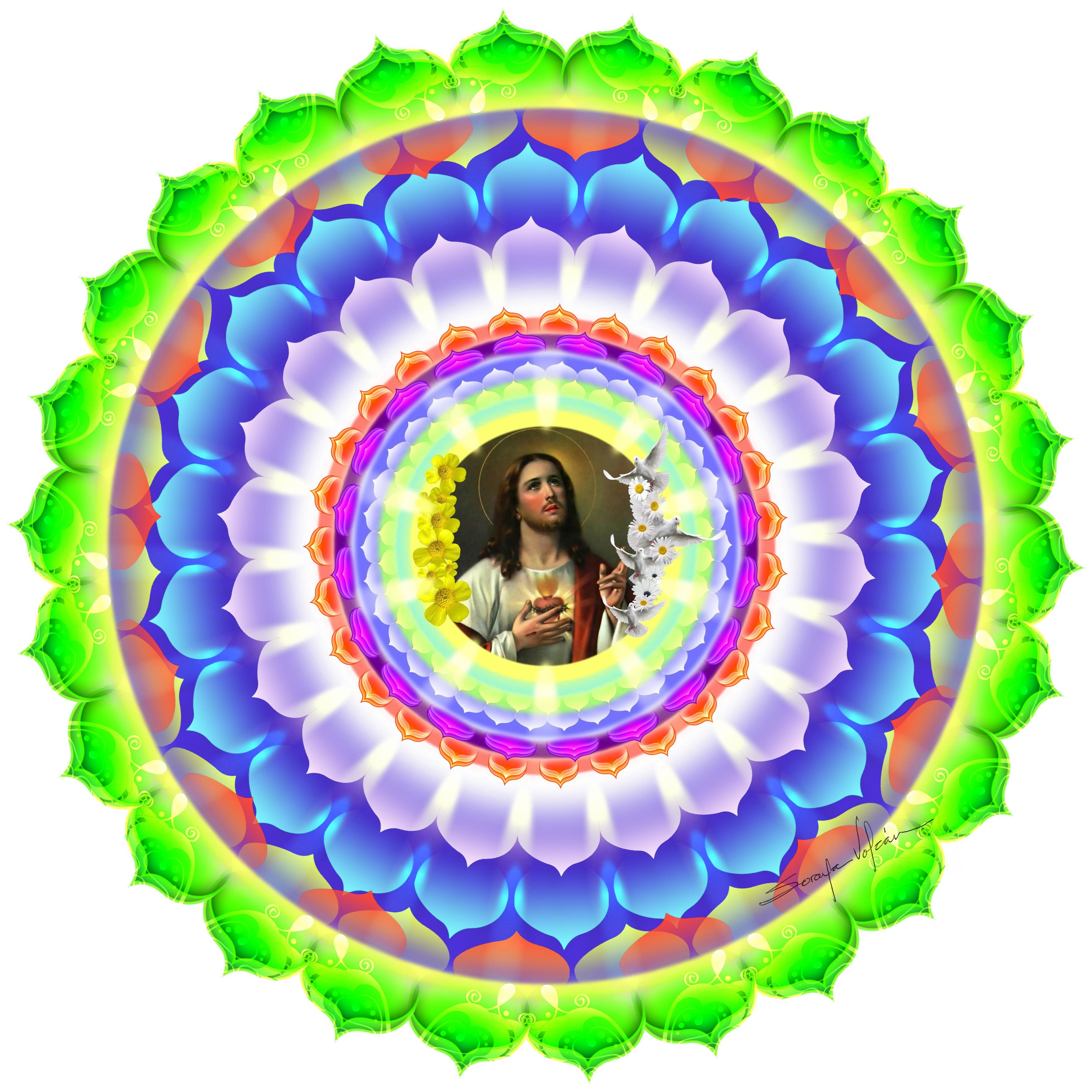 Mandala Corazón de Jesús