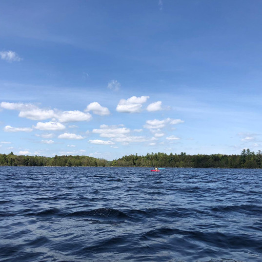 Kayaking out on the water
