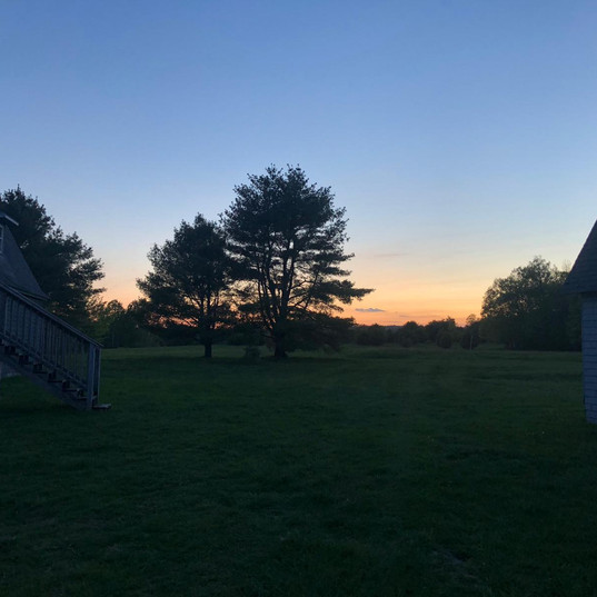 Sunset by the barn