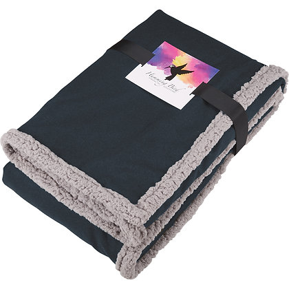 Field & Co. Oversized Wool Sherpa Blanket w/Card
