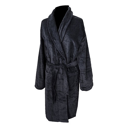 Terry Velour Shawl Collar Robe