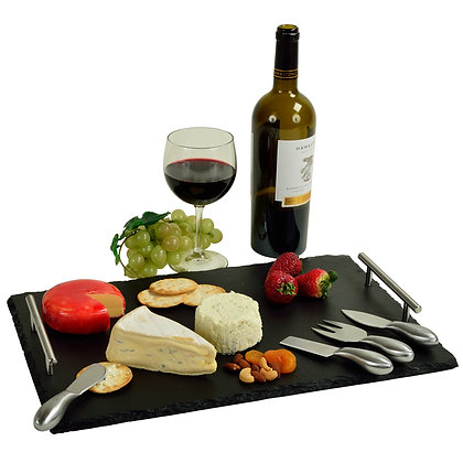 Sardo Deluxe Slate Cheese Board with Tools