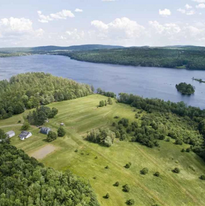 Aerial view of Maine property