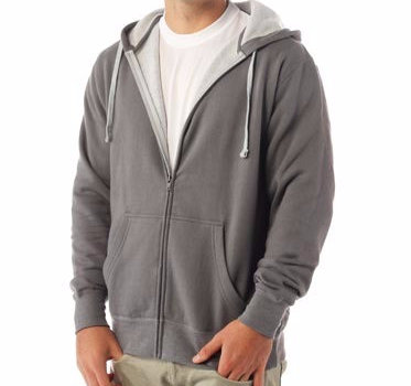 Two- Color Full Zip Hoodie