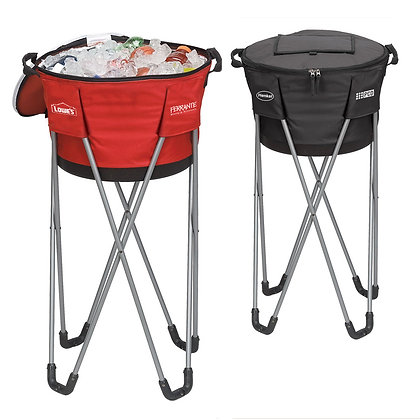 Collapsible Barrel Cooler With Stand