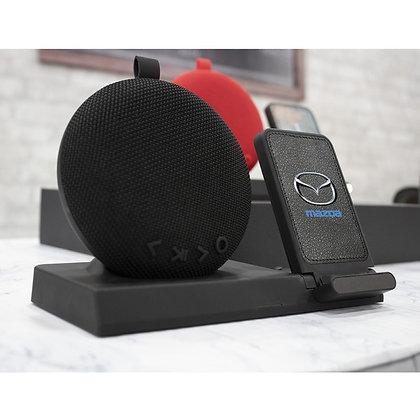 Desktop Bluetooth Speaker and Wireless Charging Power Station